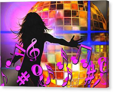 Feel Like Dancing Canvas Print by Georgiana Romanovna