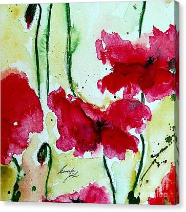 Feel The Summer 2 - Poppies Canvas Print by Ismeta Gruenwald