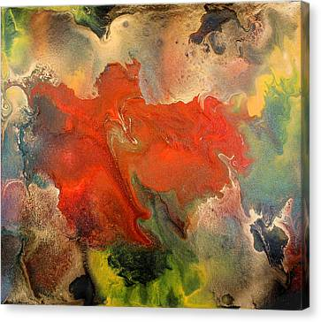 Feelings Eruption Canvas Print by Julia Fine Art And Photography