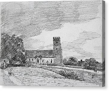 Feering Church, 1814 Canvas Print by John Constable
