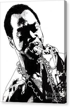 Fela Kuti Canvas Print by Nancy Mergybrower
