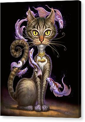 Feline Fantasy Canvas Print by Jeff Haynie
