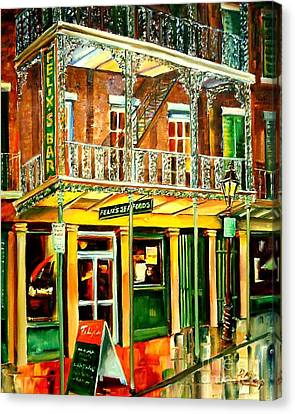 Felixs Oyster Bar Canvas Print by Diane Millsap
