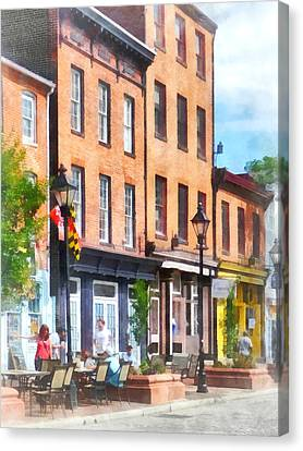 Fells Point Street Canvas Print by Susan Savad