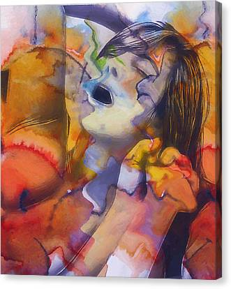 Female Climax Canvas Print by Steve K