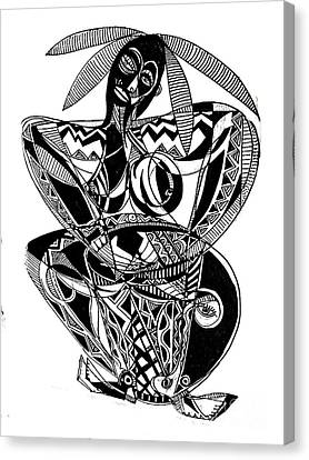 Female Drummer Canvas Print by Robert Daniels