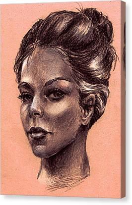 Female Face Canvas Print by Dayi Tofu