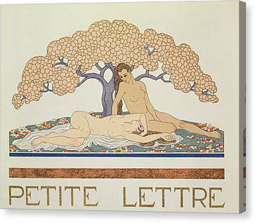 Female Nudes Canvas Print by Georges Barbier