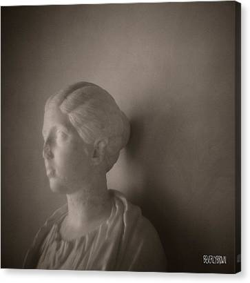 Female Statue With Broken Nose Canvas Print by Beverly Brown Prints