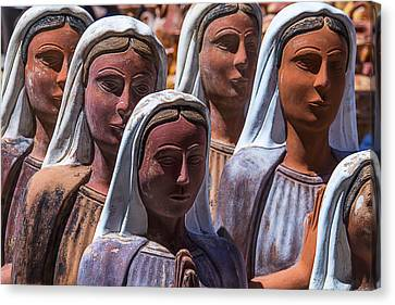 Female Statues Canvas Print by Garry Gay