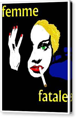Femme Fatale Canvas Print by Paul Sutcliffe