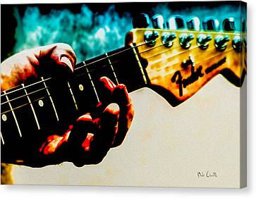 Fender Strat Canvas Print by Bob Orsillo