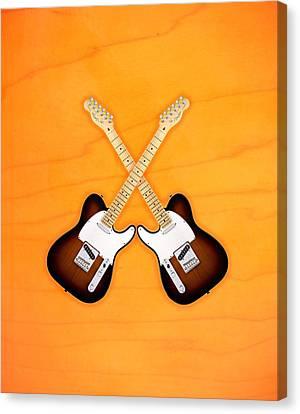 Fender Telecaster Sunburst Canvas Print by Doron Mafdoos