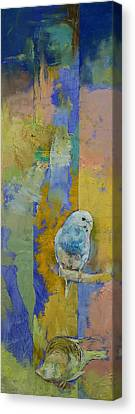 Feng Shui Parakeets Canvas Print by Michael Creese
