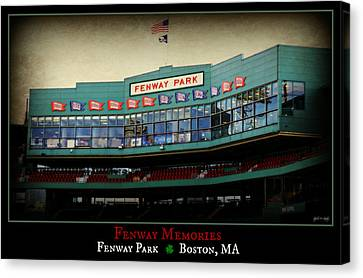 Fenway Memories - Poster 2 Canvas Print by Stephen Stookey