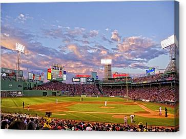 Fenway Night Canvas Print by Donna Doherty