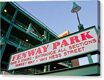 Fenway Park Boston Canvas Print by John McGraw