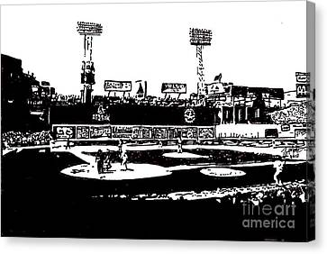 Fenway Park Drawing Canvas Print by Rob Monte