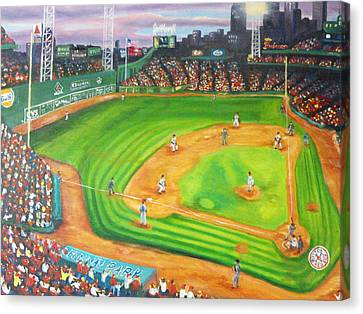 Fenway Park Fantasy Canvas Print by Michell Givens