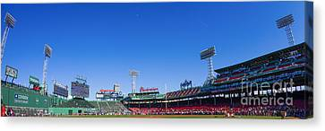 Fenway Park- Home Of The Boston Red Sox Canvas Print by Diane Diederich