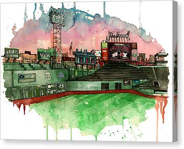 Fenway Park Canvas Print by Michael  Pattison