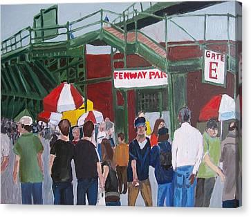 Fenway Park Spring Time Canvas Print by Carmela Cattuti