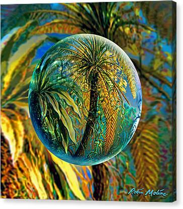Fern World Canvas Print by Robin Moline