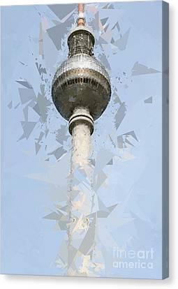 Fernsehturm Berlin Canvas Print by Design Windmill
