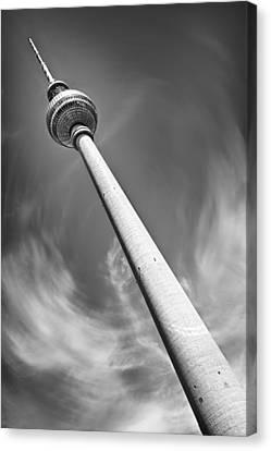 Fernsehturm Berlin - Television Tower Canvas Print by Melanie Viola