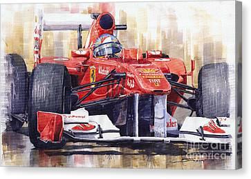 Ferrari 150 Italia Fernando Alonso F1 2011  Canvas Print by Yuriy  Shevchuk