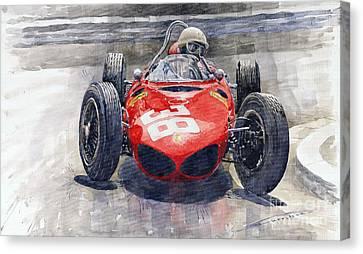 Ferrari 156 Sharknose Phil Hill Monaco 1961 Canvas Print by Yuriy Shevchuk