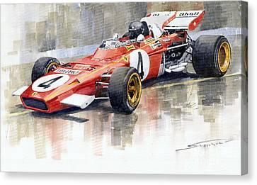 Ferrari 312 B2 1971 Monaco Gp F1 Jacky Ickx Canvas Print by Yuriy  Shevchuk