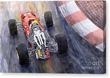 Ferrari 312 F1 1967 Canvas Print by Yuriy Shevchuk