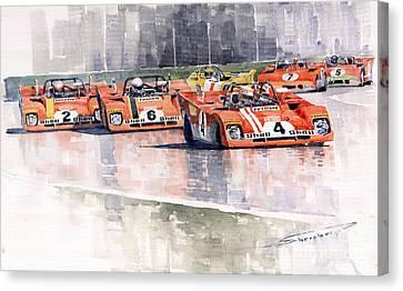 Ferrari 312 Pb Daytona 6 Hours 1972 Canvas Print by Yuriy  Shevchuk