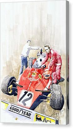 Ferrari 312t Monaco Gp 1975 Niki Lauda Winner Canvas Print by Yuriy  Shevchuk