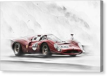 Ferrari 330 P Series Canvas Print by Peter Chilelli