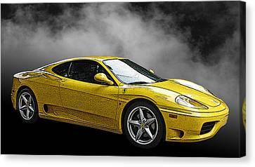 Ferrari 360 Modena Side View Canvas Print by Samuel Sheats