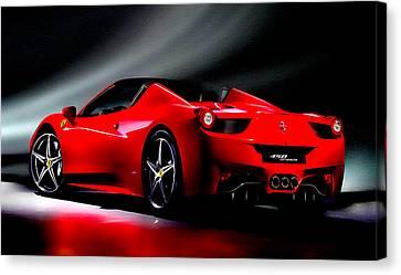 Ferrari 458 Spider Canvas Print by Brian Reaves