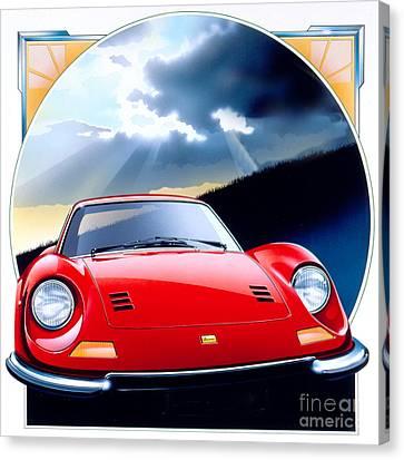 Ferrari Dino Canvas Print by Gavin Macloud