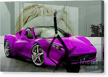 Ferrari Raw Horse Power Canvas Print by Marvin Blaine
