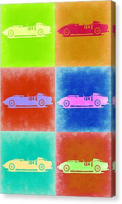 Ferrari Testarossa Pop Art 2 Canvas Print by Naxart Studio