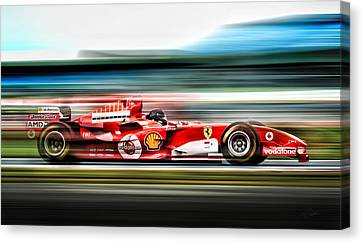 Ferrari Unbridled Canvas Print by Peter Chilelli