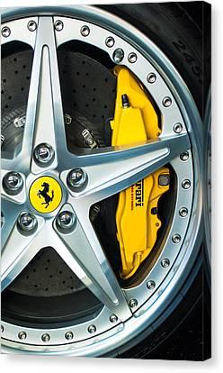 Ferrari Wheel 3 Canvas Print by Jill Reger