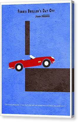 Ferris Bueller's Day Off Canvas Print by Ayse Deniz