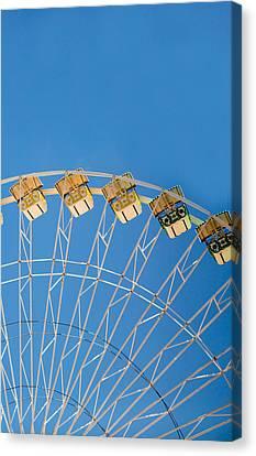 Ferris Wheel 2 Canvas Print by Rebecca Cozart