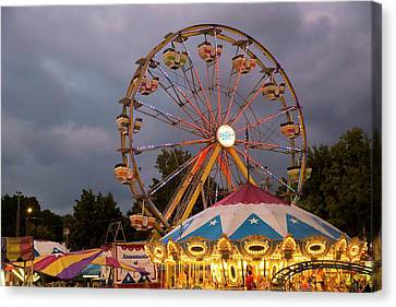 Ferris Wheel Fairground Ride Canvas Print by Jim West