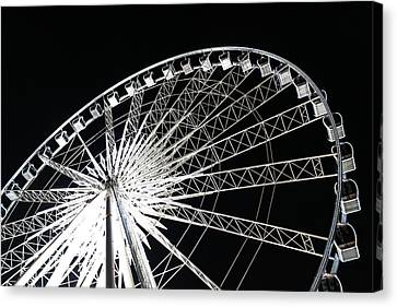 Ferris Wheel Canvas Print by Nawarat Namphon