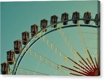 Ferris Wheel Tilt Shift Octoberfest In Munich Canvas Print by Sabine Jacobs