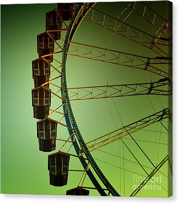 Ferris Wheel Vintage At The Octoberfest In Munich Canvas Print by Sabine Jacobs