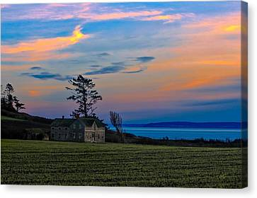 Ferry House Sunset Canvas Print by Rick Lawler